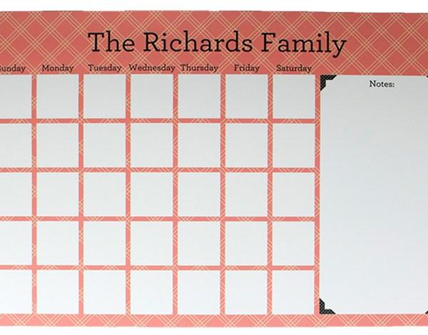 DIY Magnetic Calendar OR Menu Planner