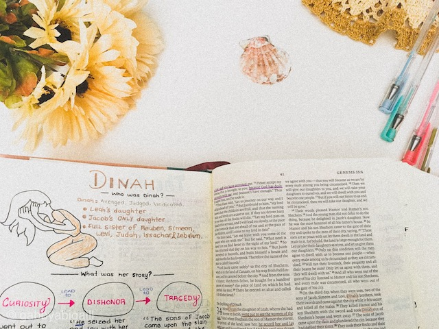 A page in Genesis inside the ESV Journaling Bible