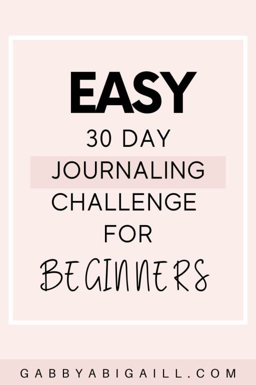 easy 30 day journaling challenge for beginners