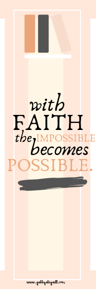 With faith the impossible becomes possible bookmark