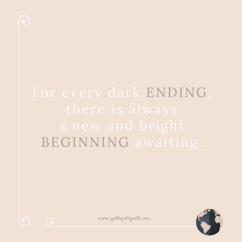 A quote about new beginnings