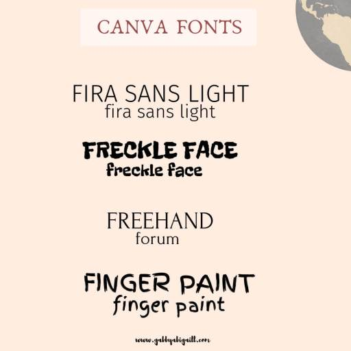 Fonts that start with the letter F