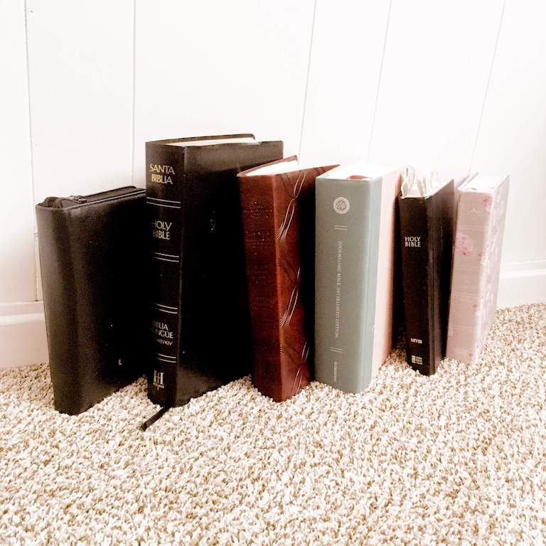 6 bibles from Gabby's bible collection