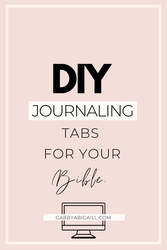 diy journaling tabs for your bible