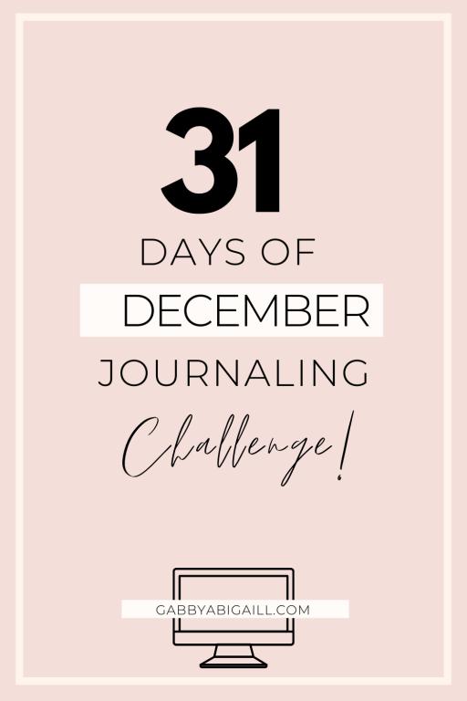 31 days of december journaling challenge