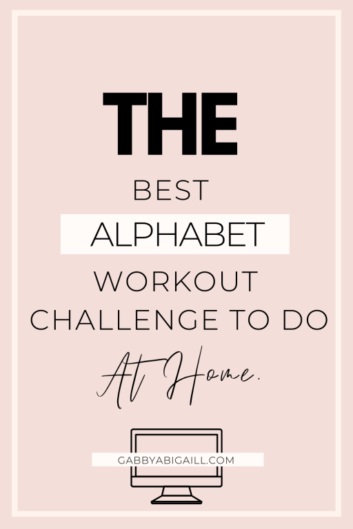 the best alphabet workout challenge to do at home
