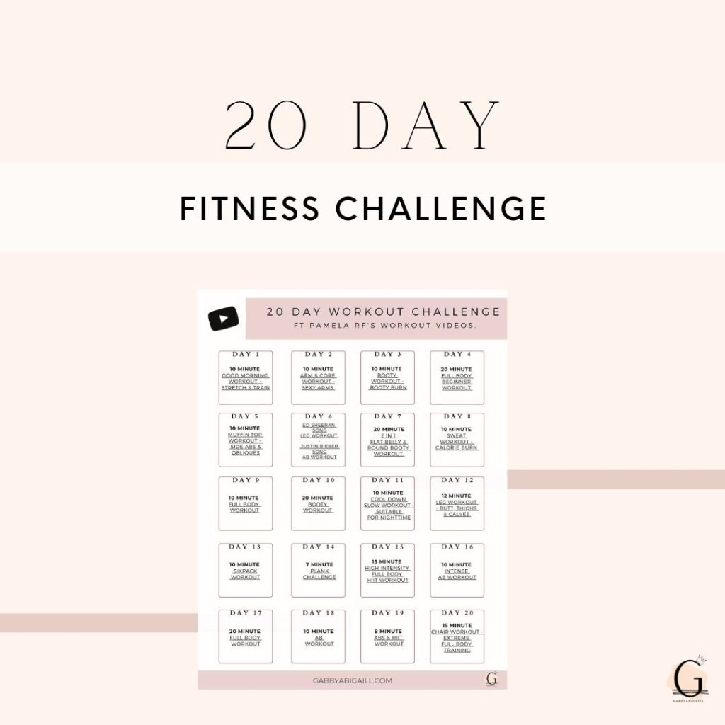 20 Day Fitness Challenge