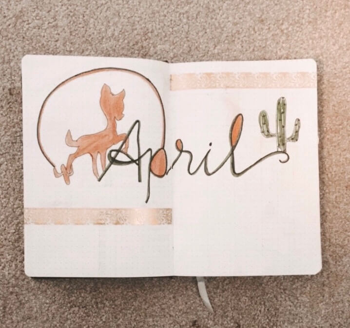 April Bullet Journal Cover