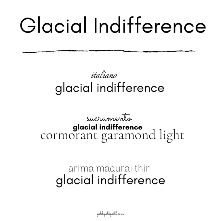 Glacial Indifference font and other Canva fonts to use in your graphics