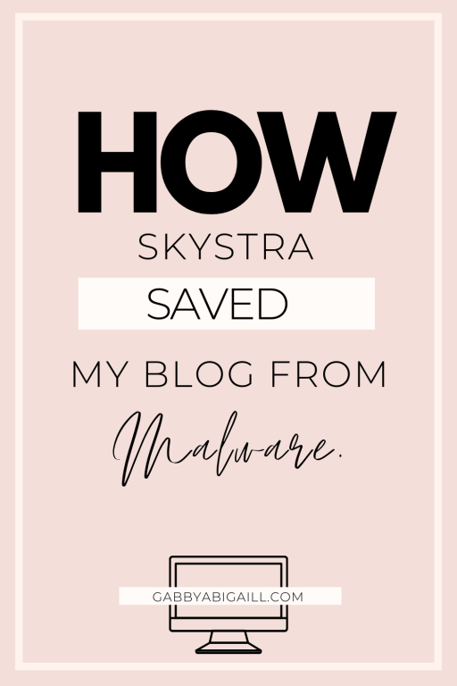 how Skystra saved my blog from malware