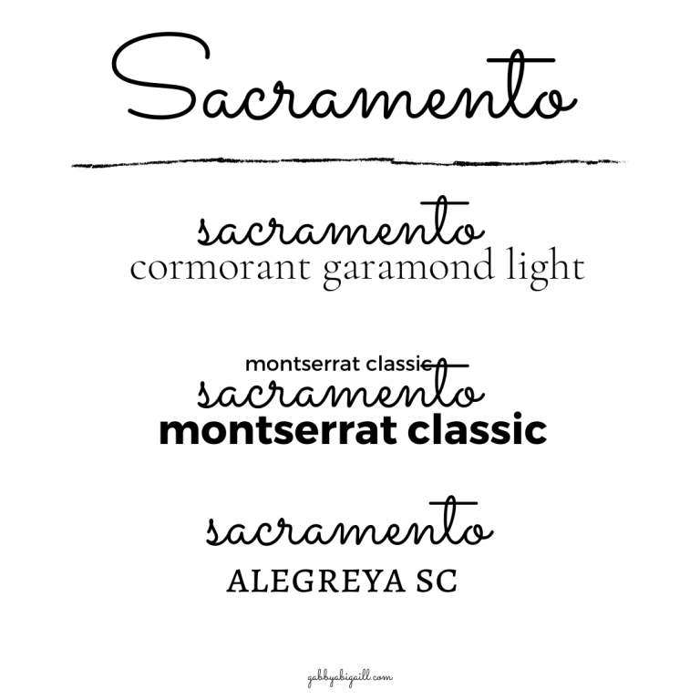 Sacramento font and other Canva fonts to use in your graphics.
