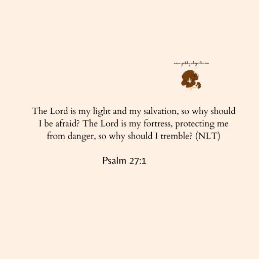 Psalm 27 verse 1