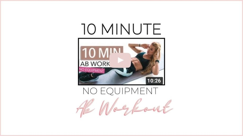 10 minute no equipment ab workout