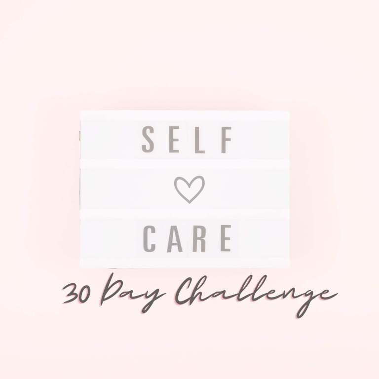 30 day self-car challenge for women plus printable