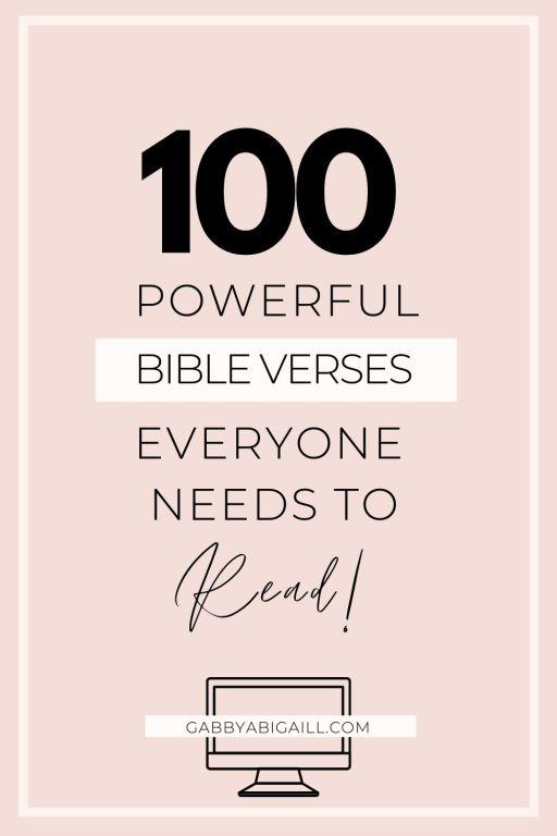 100 powerful bible verses everyone needs to read