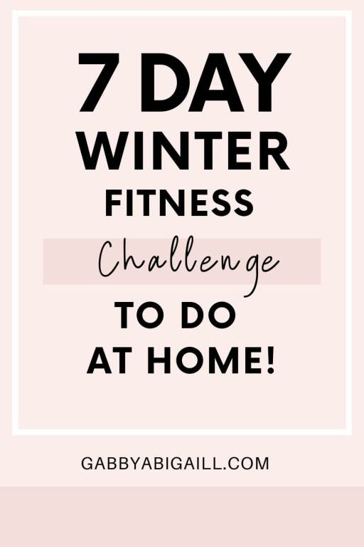 7 day winter fitness challenge to do at home