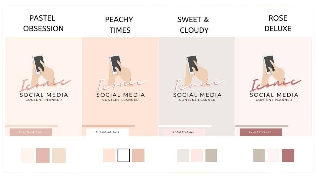 social media content planner printing options