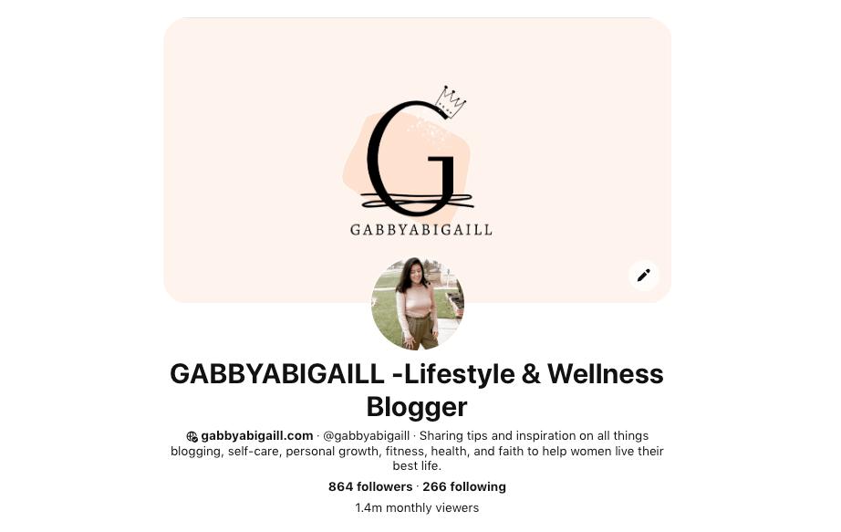 Pinterest account @gabbyabigaill