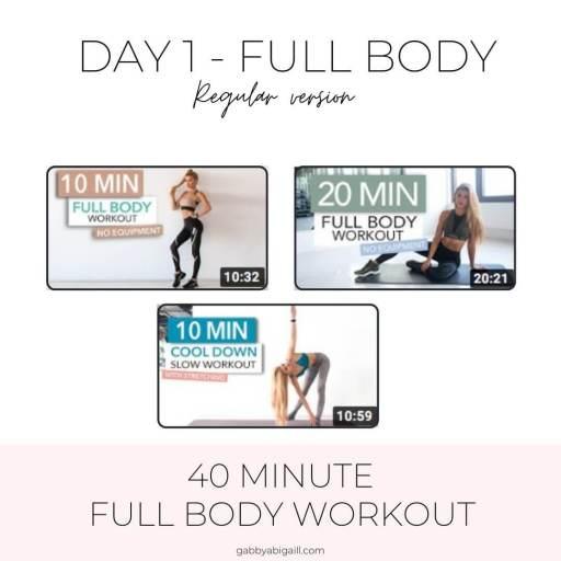day 1 full body regular version