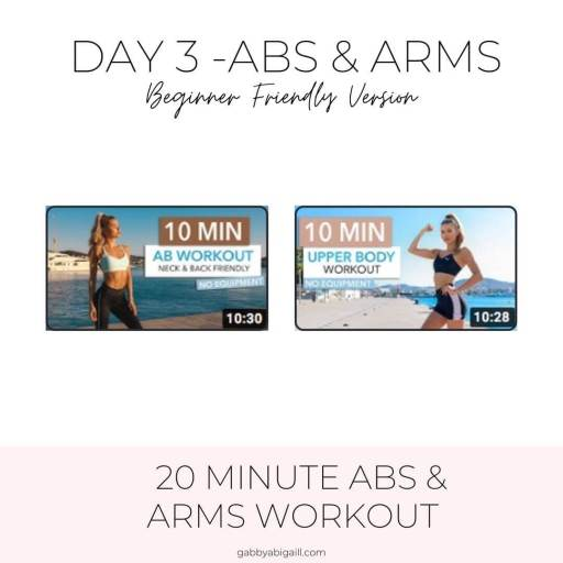 day 3 abs and arms beginner friendly