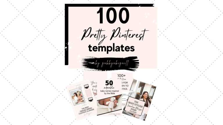 100 pretty pinterest templates packet