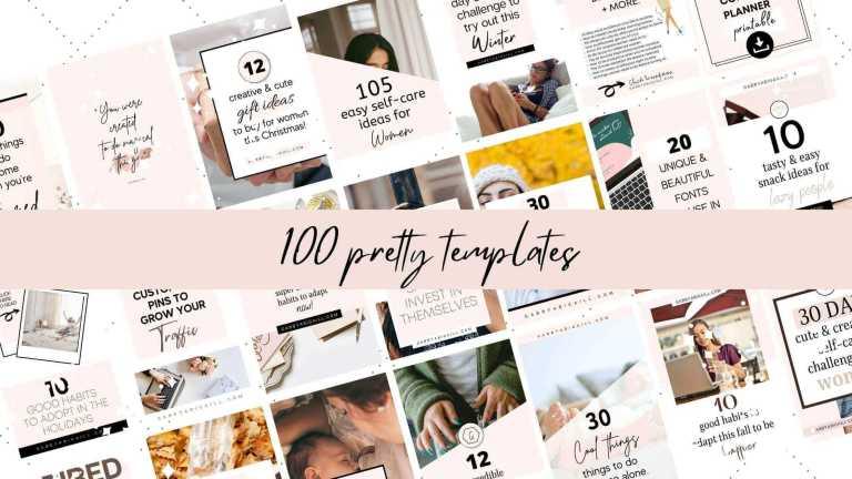 100 pretty pinterest templates