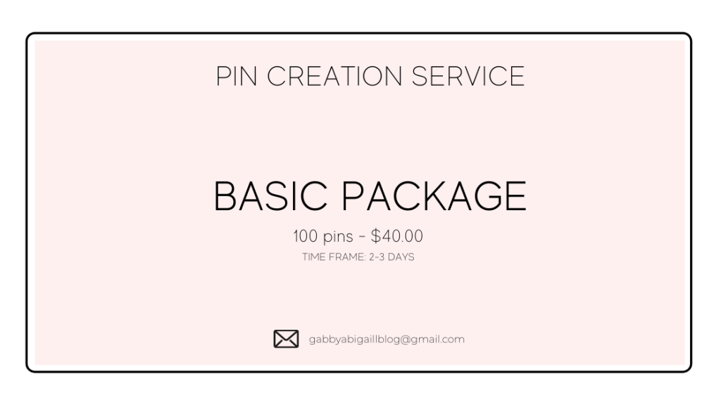 basic pin creation package