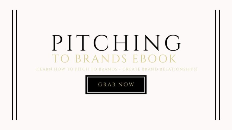 pitching to brands ebook