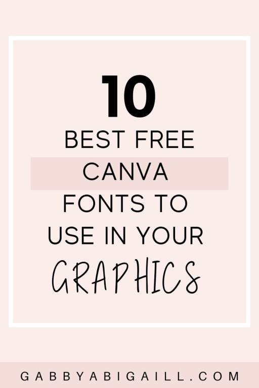 10 Best Free Canva Fonts To Use In Your Graphics