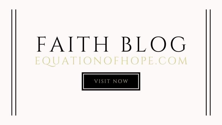 faith blog equationofhope.com