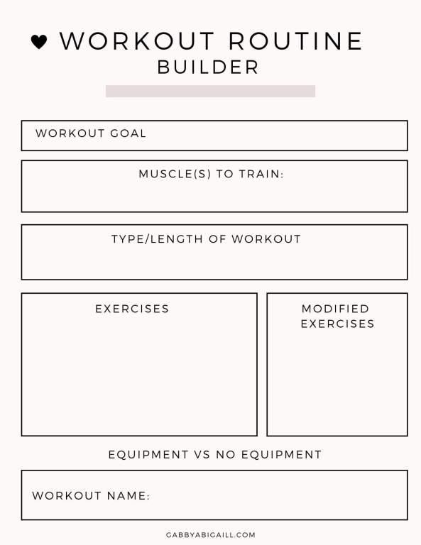 workout routine builder