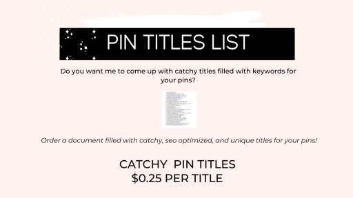 pin titles creation