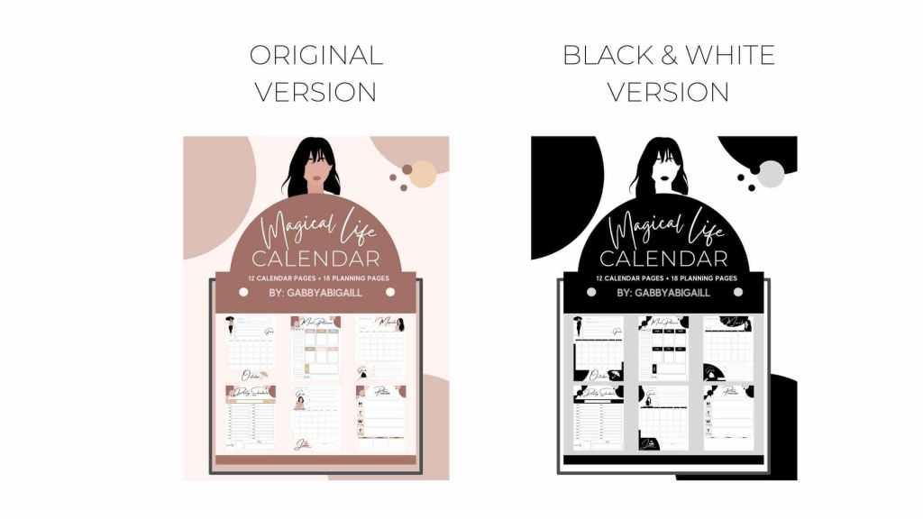 Magical life calendar versions