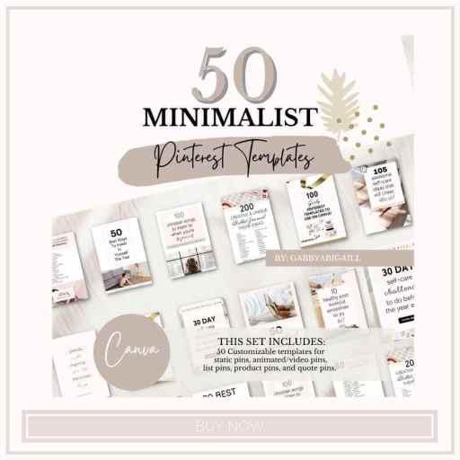 50 minimalist pinterest templates shop