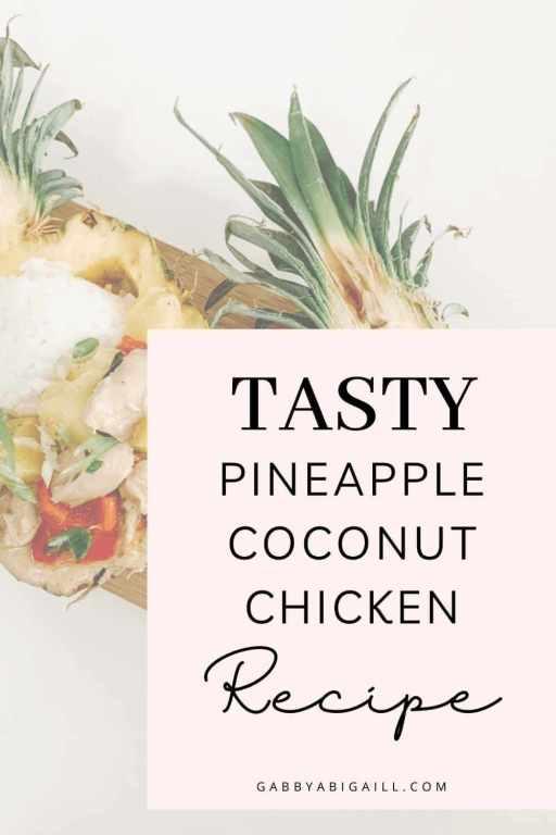 tasty pineapple coconut chicken recipe