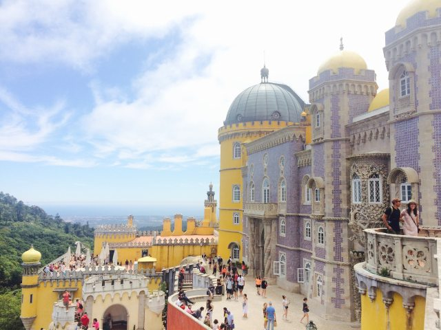 pena palace how I lived in Portugal for on month on a budget