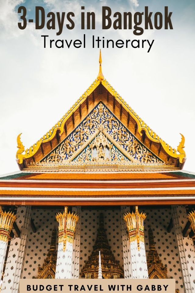 3 Day Bangkok Travel Itinerary