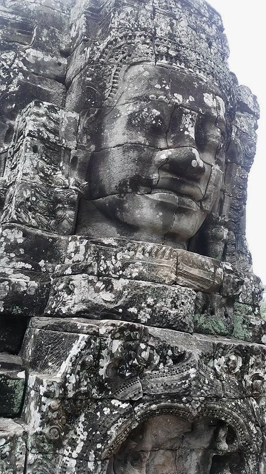 cambodia siem reap temple face