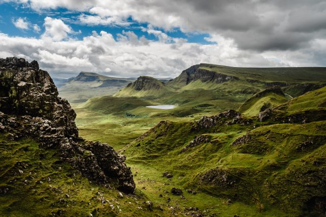 quiraing isle of Skye hiking destinations in Great Britain
