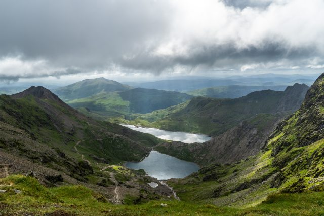 mount snowdon Wales hiking destinations in Great Britain