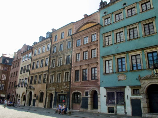 old town architecture Warsaw Poland