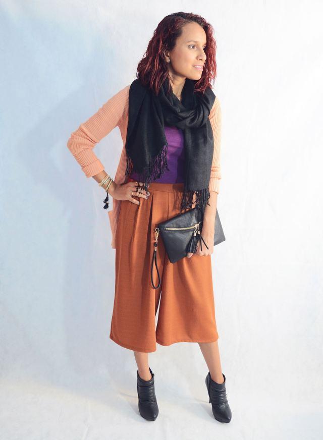 Look otoñal con pantalón culotte2