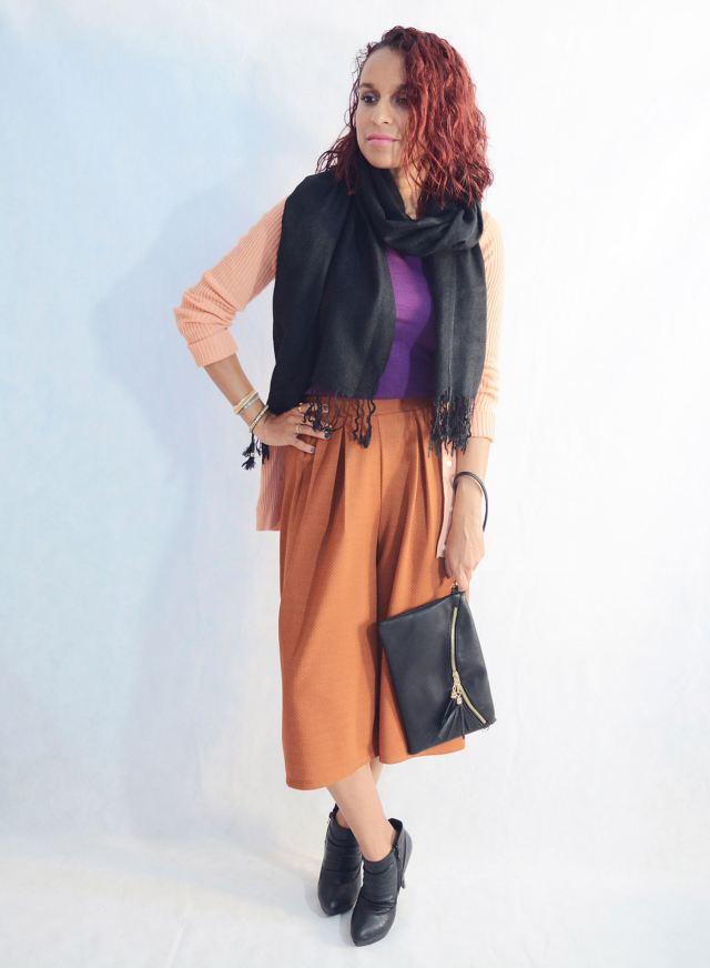 Look otoñal con pantalón culotte5