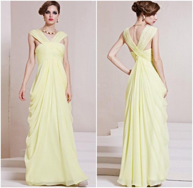 Vestido amarillo Elegante 1