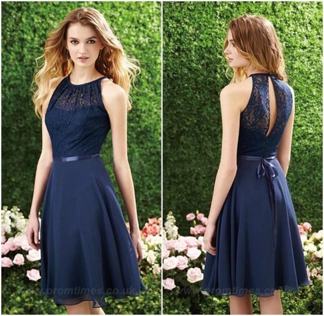 Vestido azul corto Elegante 2