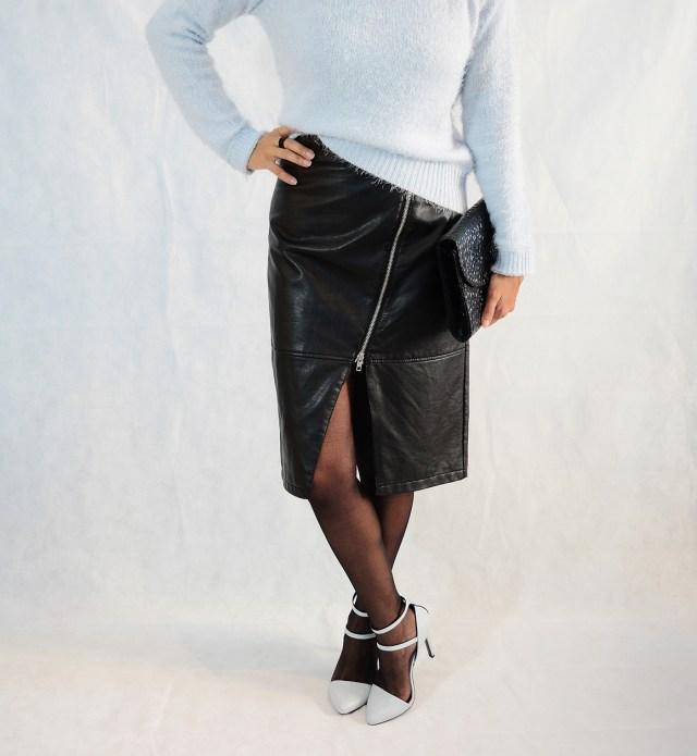 look falda polipiel 10