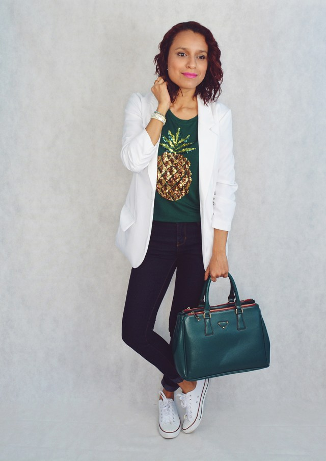 Look casual con camiseta estampada 3
