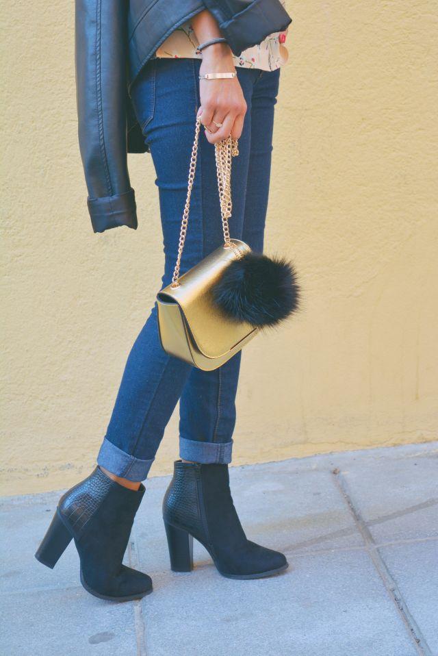 Jeans y botines