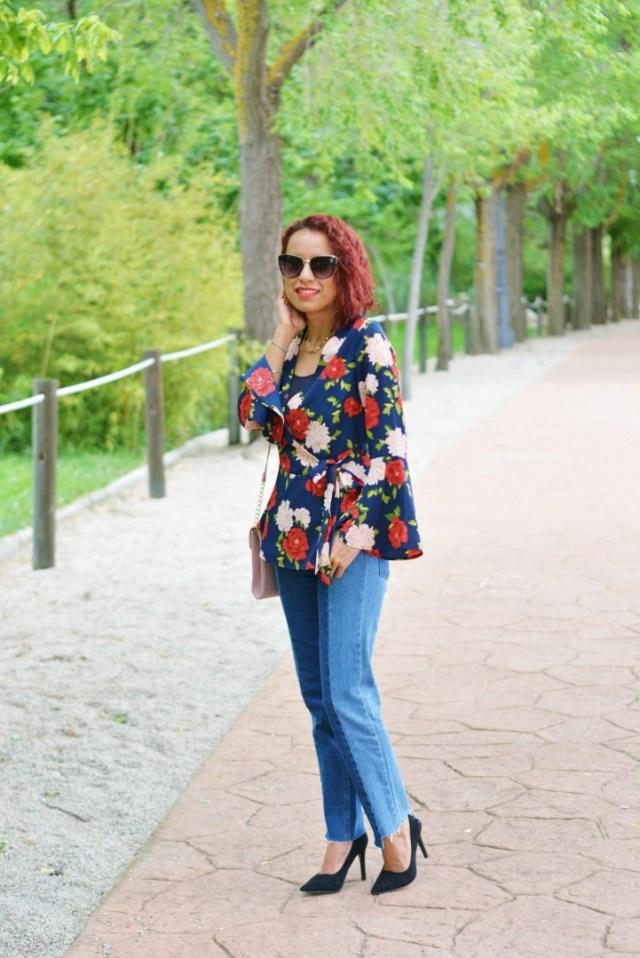 Look con estampado floral