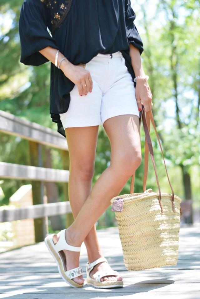 Zapatos y bolso con esparto